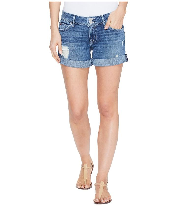 Hudson - Croxley Mid Thigh Flap Pocket Shorts In High Hopes