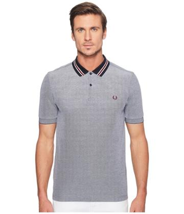 Fred Perry - Oxford Bomber Collar Pique Shirt