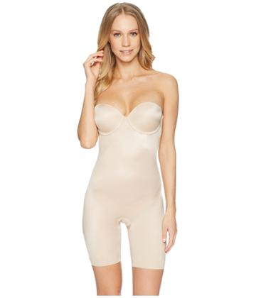 Spanx - Suit Your Fancy Strapless Cupped Mid-thigh Bodysuit