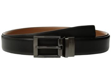 Perry Ellis Portfolio - Etched Buckle Big Tall Reversible Dress Belt