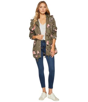 Members Only - Olive Floral Anorak