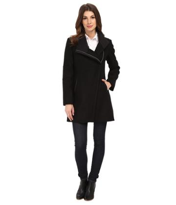 Calvin Klein - Wool Asymmetrical Zip Coat