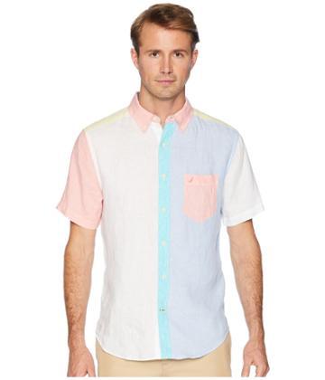 Nautica - Short Sleeve Linen Pieced Fashion
