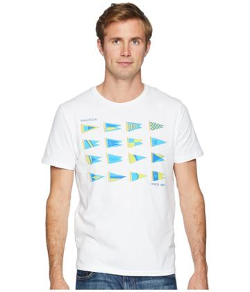 Nautica - Heritage Sail Flags Crew T-shirt