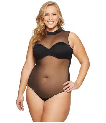 Spanx - Plus Size Mock Neck Bodysuit