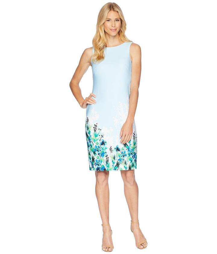 Calvin Klein - Floral Placement Sheath Dress Cd8m61jt