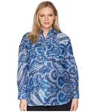 Lauren Ralph Lauren - Plus Size Paisley Silk-blend Shirt