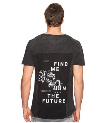 Nana Judy - Carr T-shirt With Find Me In The Future Back Black Panel