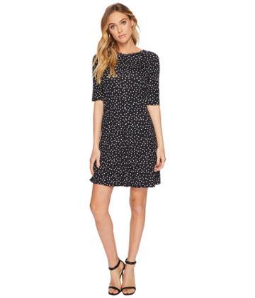 Three Dots - Confetti Dot Trapeze Dress