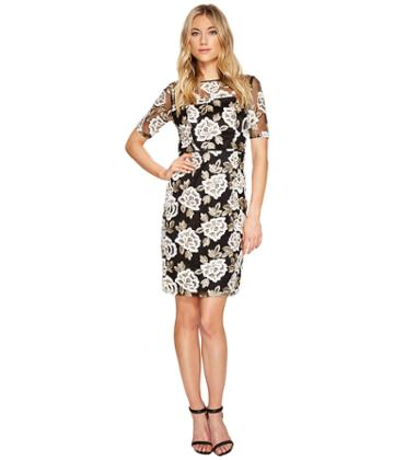 Adrianna Papell - Embroidered Sheath Dress