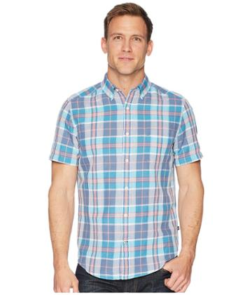 Nautica - Short Sleeve Linen Plaid Shirt
