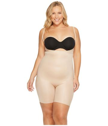 Spanx - Plus Size Power Conceal-her Open Bust Mid Thigh Bodysuit