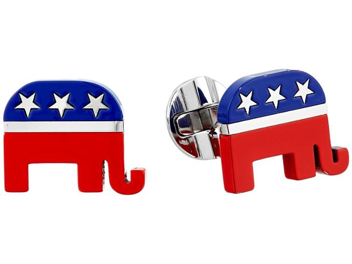 Cufflinks Inc. - Stainless Steel Republican Elephant Cufflinks