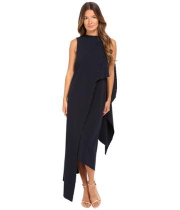 Zac Posen - Stretch Cady Asymmetrical Sleeveless Dress