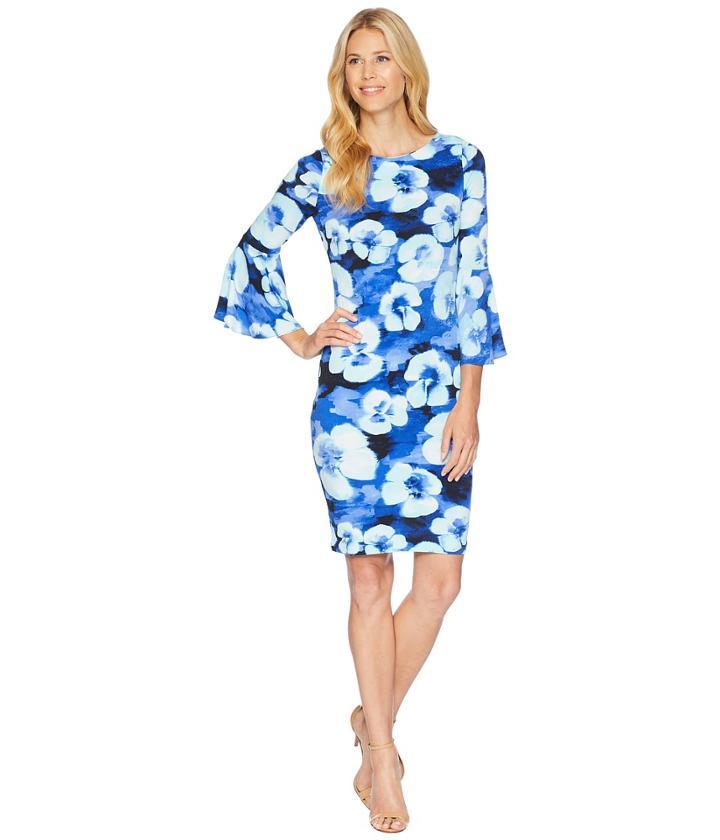 Calvin Klein - Floral Print Bell Sleeve Cd8aj33e