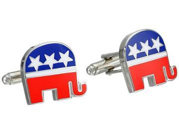 Cufflinks Inc. - Republican Elephant Cufflinks