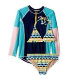 Toobydoo - Fun Pattern Bikini Rashguard Set