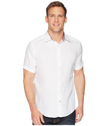 Nautica - Short Sleeve Solid Linen Shirt