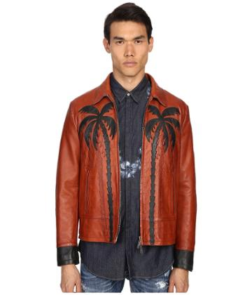Dsquared2 - Palms Patch Leather Bomber