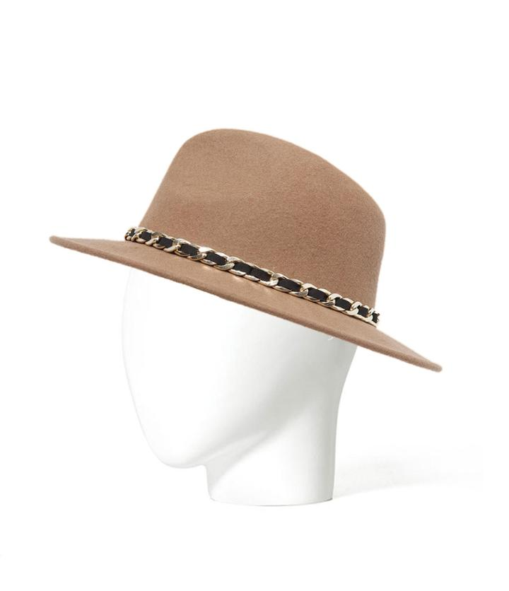 Zara Felt Hat With A Chain