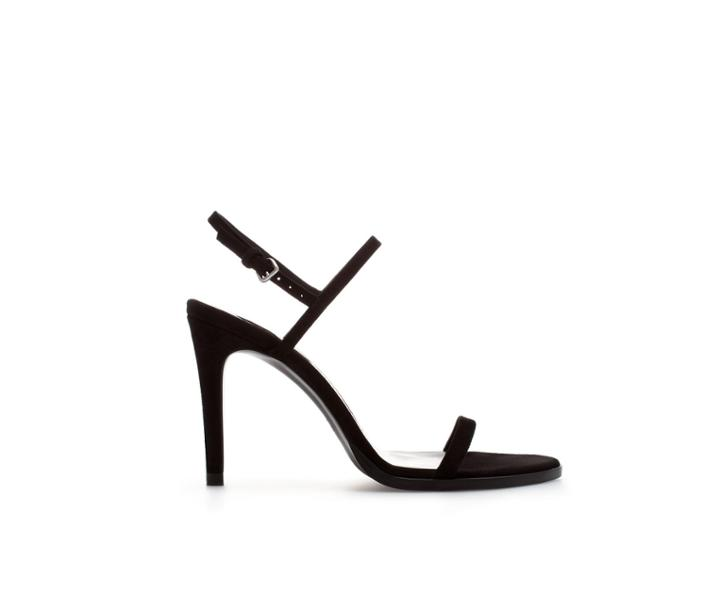 Zara Suede Leather High Heel Sandal
