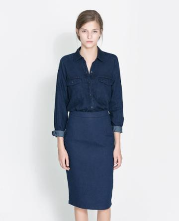 Zara Dark Blue Shirt