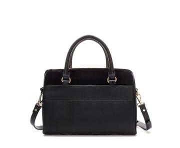 Zara Leather Bag With Pockets