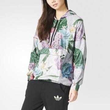 Adidas Training Floral Jacket Red
