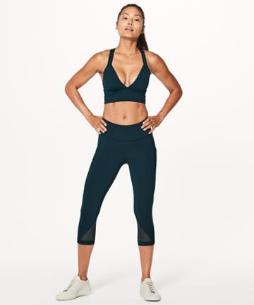 Lululemon Sweat Your Heart Out Crop *21