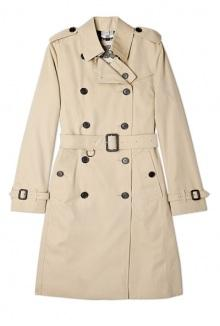Honey Cotton Trench Coat By Burberry Brit