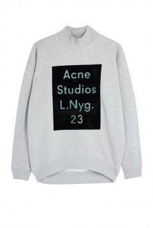 Beta Flock Acne Logo Sweater By Acne