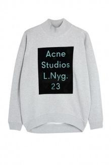 Beta Flock Acne Logo Sweater By Acne