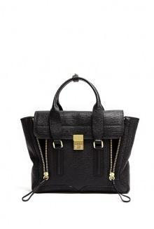 Black Grained Leather Pashli Satchel By 3.1 Phillip Lim