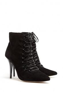 Zara Suede Lace-up Ankle Boots By Lucy Choi London